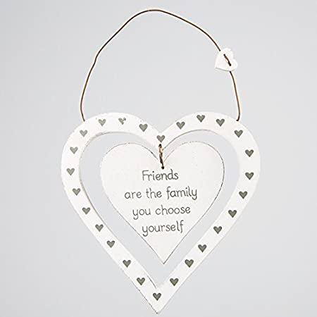 White Wooden Heart Friends Are The Family You Choose Yourself