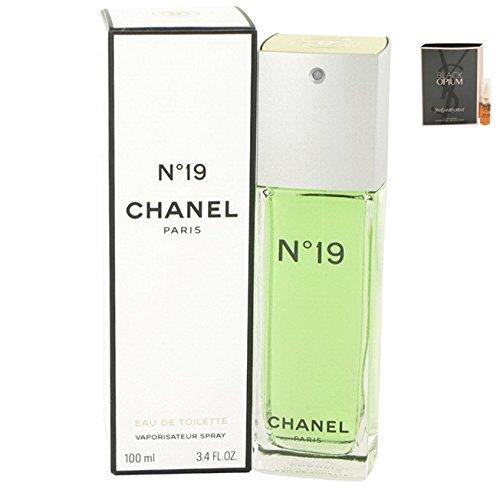 No. 19 Perfume C H A N E L For Women Eau De Toilette Spray 3.4 oz. 100 ml. [WP] Free! Sample Perfume Black Opium 0.05 oz Vial