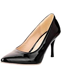 KingRover Women's Classic Fashion Pointed Closed Toe Stiletto Work Office Dress Pumps