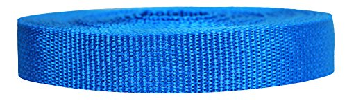 Strapworks Lightweight Polypropylene Webbing - Poly Strapping for Outdoor DIY Gear Repair, Pet Collars, Crafts - 3/4 Inch by 10, 25, or 50 Yards, Over 20 Colors