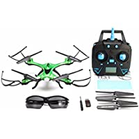 Quadcopter with Camera,Jrelecs H31 Waterproof Drone With Headless Mode 2.4G 4CH 6-Axis Gyro One Key Return 360° Rolling RC Quadcopter (Green)