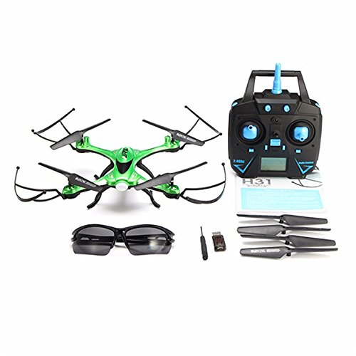 Quadcopter con cámara, jrelecs H31impermeable Drone con el modo Headless 2.4G 4CH 6-Axis Gyro One Key Return 360° Rolling RC Quadcopter, Verde, 1