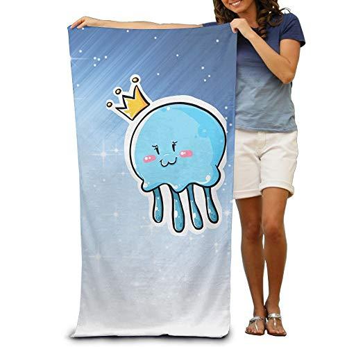 FZ-Kimrio Bath Towel - Cute Jellyfish Clipart Queen Thick Large Swim Beach Towels ()