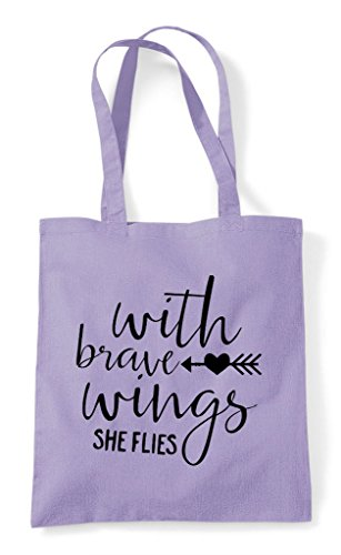 Wings Shopper Statement With Tote Bag Brave Lavender 5CqwwXv