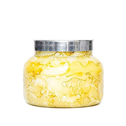 Capri Blue 48 oz. Watercolor Collection Jar Candle-Yellow-Aloha Orchid