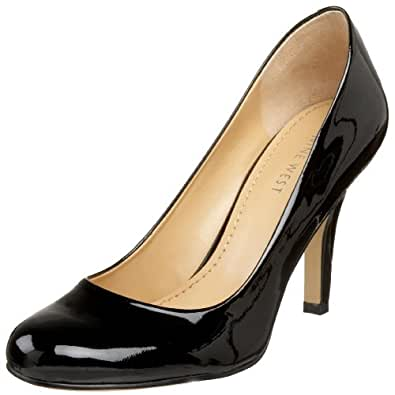 Nine West Women's Ambitious Pump,Black Patent,6.5 M US