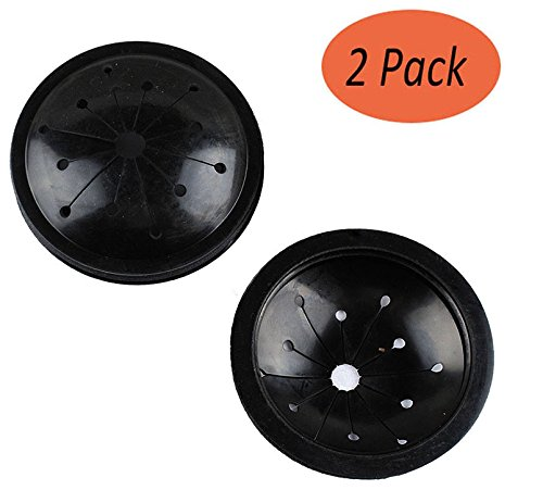 Podoy Garbage Disposal Splash Guard Black Sink for GE WC03X10010 (Pack of 2)