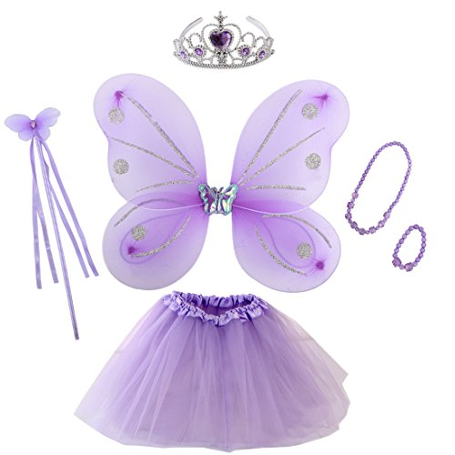 (kilofly Princess Party Favor Butterfly Fairy Costume Dress Up Role Play Value Pack)