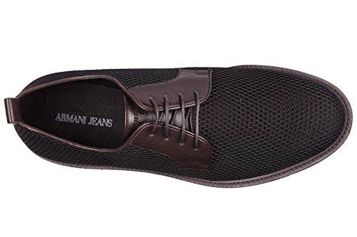 Armani Jeans scarpe stringate classiche uomo nuove derby bordeaux