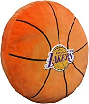 """Officially Licensed NBA 3D Basketball Shaped Pillow, Orange, 15"""" x 15&"""