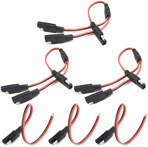 WMYCONGCONG 3 PCS 1 TO 2 SAE Power Automotive Extension Cable 3 PCS SAE Power Automotive Extension Cable/18AWG 300mm