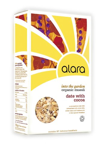 Alara Into the Garden Date with Cocoa Organic Muesli 750 g (Pack of 5)