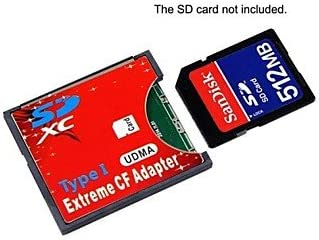 SD SDHC SDXC to High-Speed Extreme Compact Flash CF Type I Adapter for 16//32//64//128 GB