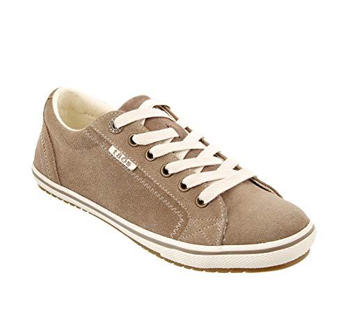Taos Footwear Women's Retro Star Khaki Suede Sneaker 8.5 M US