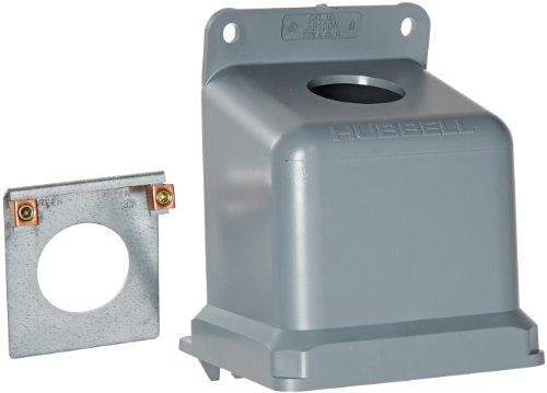 Hubbell Wiring Systems BB100N Ship-to-Shore Thermoplastic Back Box for Shore Power Inlet, 15 Degrees Angle, 1-1/2