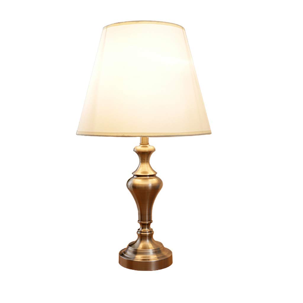 J&Z Schreibtisches Lamp Lamp Simple Creative Retro Wrought Iron Bedroom Decorative Bedside Lamp Indoor Lighting,RemoteControl