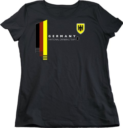 Ann Arbor T-Shirt Co. Women's Germany National Drinking Team Cut T-Shirt