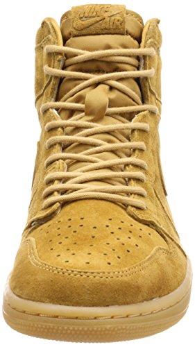 Jordan Nike Herren Air 1 Retro High OG Basketballschuh Golden / Ernte / Golden / Ernte