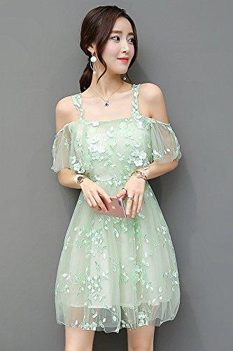 1fdf9c46f9f4e Summer Korean Slim gauze embroidered lace strapless Dress base skirt small  fresh floral chiffon dress for
