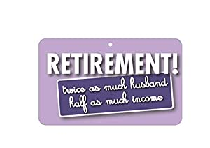 Muestra de la diversión - la jubilación - 20 cm x 12 cm tarjeta laminada