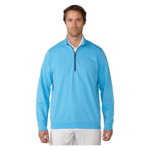 Ashworth Mens French Terry 1/2 Zip Pullover Blue - Pullover Lightweight Ashworth
