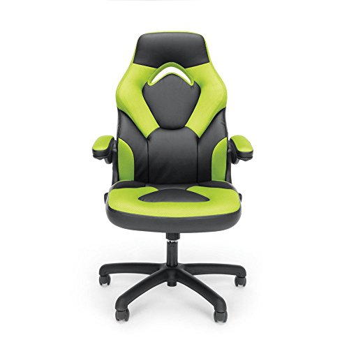 Essentials-Racing-Style-Leather-Gaming-Chair-Ergonomic-Swivel-Computer-Office-or-Gaming-Chair-Gray-ES-3085-GRY