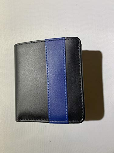 (THIN BLUE LINE MIN BADGE WALLET FITS NYPD DETECTIVE FAMILY MEMBER MIN BADGE, CREDIT CARD ID, BILLFOLD AND PICTURES )