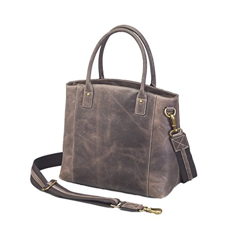 Concealed Carry Purse - Distressed Buffalo Leather Town Tote by Gun Tote'n Mamas by Gun Tote'n Mamas