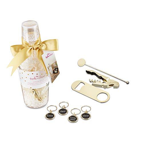 Kate Aspen 00156NA Barware Gift Clear Acrylic Cocktail Shaker Bar Set gold Acrylic Cocktail Shaker Set
