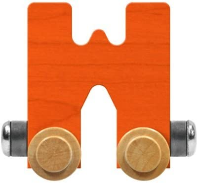 Maple Landmark NameTrain Bright Letter Car W - Made in USA (Orange)