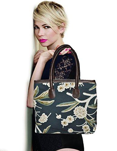 SD Fabrics , Damen Tote-Tasche Braun braun