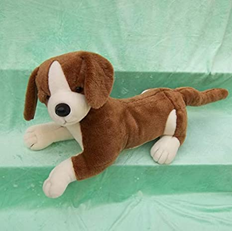 yitao Juguete de Peluche marrón Vulnerable Perro de Felpa Juguete Suave muñeca Regalo de cumpleaños
