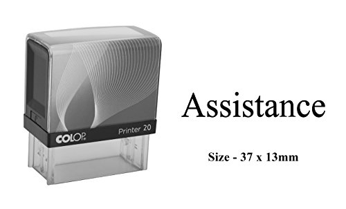 Assistance Rubber Stamp Clear Print for Office Use Colop Self-Inking Stamp