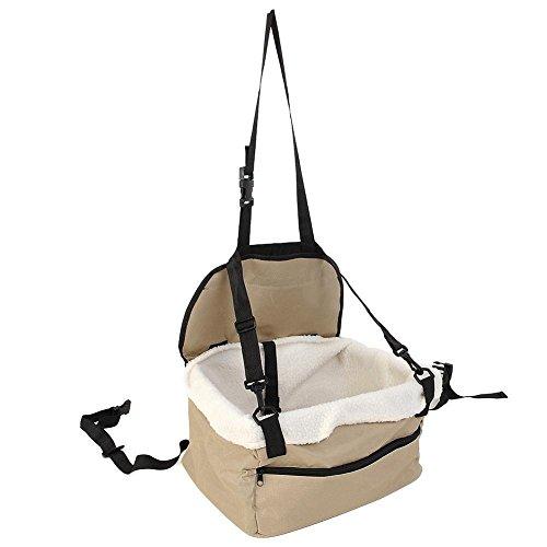 Aprettysunny Dog Car Booster Seat Pet Supply Travel Foldable Safety Adjustable Strap Basket