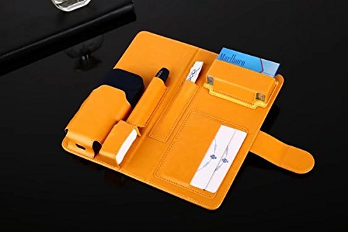 cigarette iQOS Holder Case for Scratch PU Anti Portable Pouch Case Card Protective Electronic Wallet iQOS Yellow Bag Black Cigarettes E Full Case Leather wU4nAOq5