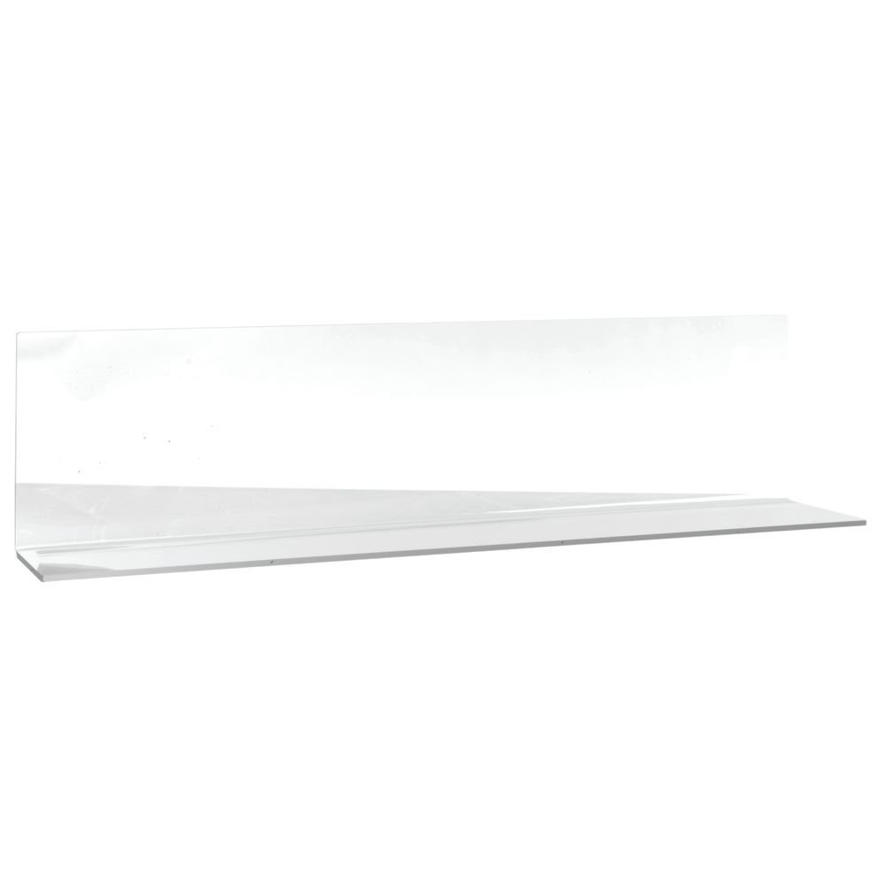 Shelf Divider Acrylic with Open End Solid Clear - 24'' L x 6'' W x 4'' H by HUBERT