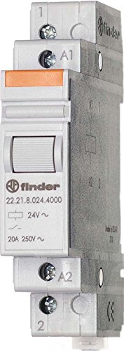 Finder 22.21.8.012.4000 SPST-NO 20A, 12V AC Coil, AgSnO2 Contact, Power Relay (Finder Contractor)