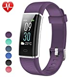 Willful Fitness Tracker Color Screen, Activity Tracker Fitness Watch Heart Rate Monitor Pedometer Watch IP68 Waterproof with Sleep Monitor Step Counter Multi-Sport Mode for Women Men Kid (Purple)