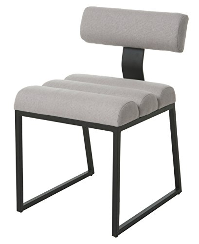 Price comparison product image Impacterra QLKI11004190 Kingswood Side Chair,  Satin Black / Buttercup