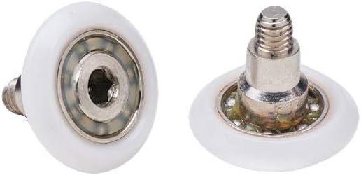 Almohadillas mampara de ducha Ruedas de bola de repuesto de acero para puertas de ducha A deslizamiento juego de 2/unidades ec-3303/