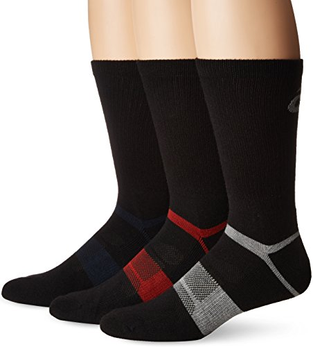 l Blend Crew, Black Assorted, Large (Asics Wool Socks)