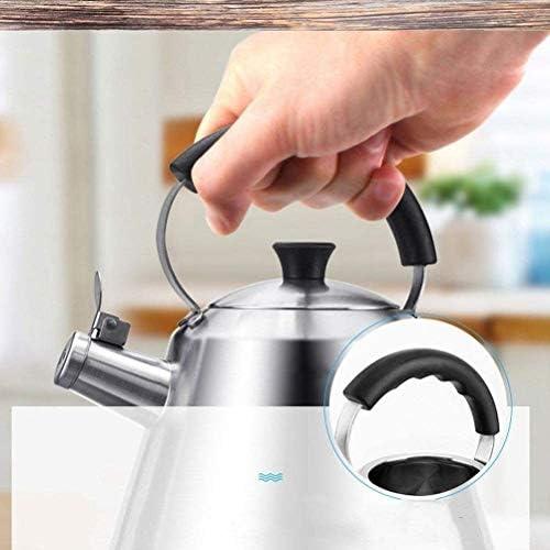 HSWJ Bouilloire pour cuisinière Bouilloire ménage en Acier Inoxydable Teapot Cuisinière à gaz Cuisinière à Induction Universelle 3L Bouilloire en Acier Inoxydable