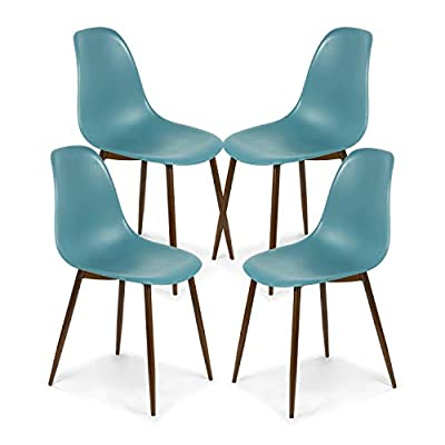 POLY & BARK Landon Sculpted Dining Chair, Set of 4