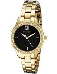 Citizen Womens EL3088-59E Analog Display Japanese Quartz Gold Watch