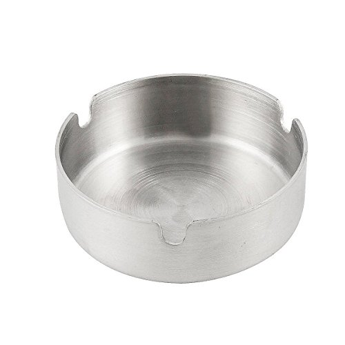 (Saim Stainless Steel Unbreakable Cigarette Ashtray for Indoor or Outdoor Use Home office Decoration)