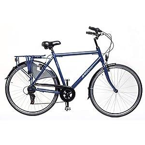 41eh4kV acL. SS300 Amigo Moves – Bicicletta da uomo – Bicicletta da uomo 28 pollici – cambio Shimano a 6 velocità – City Bike con freno a mano, illuminazione e cavalletto – blu