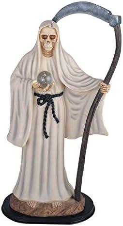 24 Inch White Santa Muerte Saint Death Grim Reaper Statue Figurine