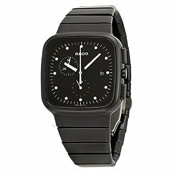 ae81a0c9173d Rado Rado R5 Chronograph Black Dial Black Ceramic Mens Watch  Amazon.co.uk   Watches