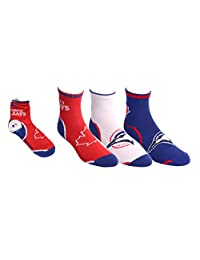 Sporticus Men's MLB Toronto Blue Jays 3-Pack Sport Quarter Socks