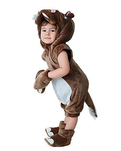 Miccostumes Kids Hippo Halloween Cosplay Animal Mascot Costume